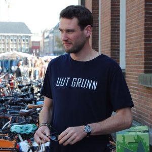 Uut Grunn – t-shirt (blauw)