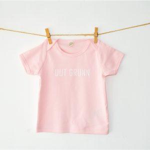 Uut Grunn – Baby t-shirt (Roze)